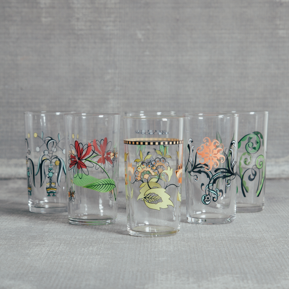 Fishs Eddy Italian Glassware Collection Relish Decor