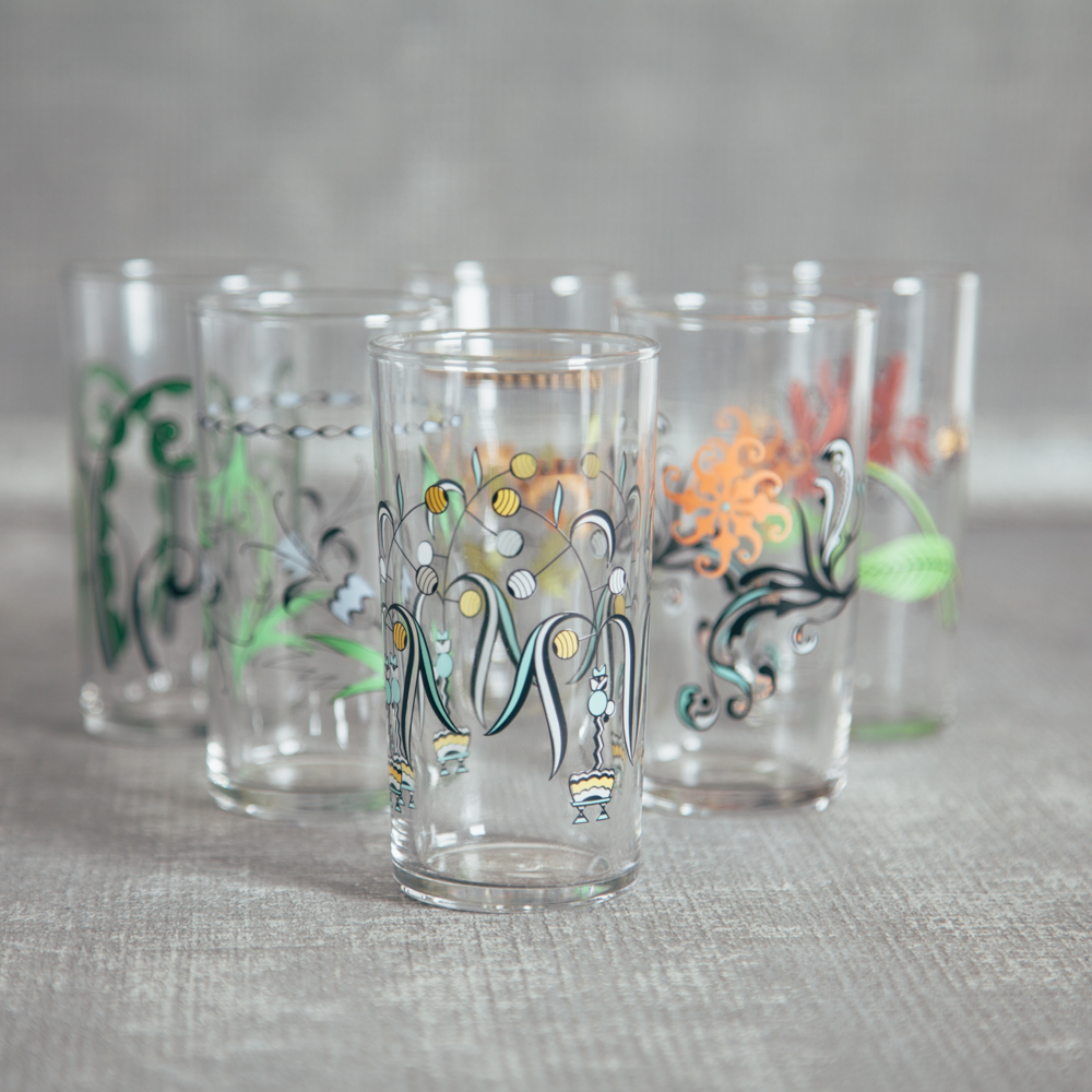 Fishs Eddy Italian Wine Glass Set of 6 Relish Decor