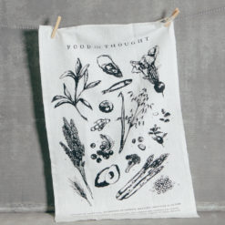 Food for Thought Pure Linen Towel Relish Decor
