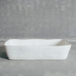 Forum White Casafina Serveware Bakeware Rectangular Baking Dish Oven to Table Relish Decor
