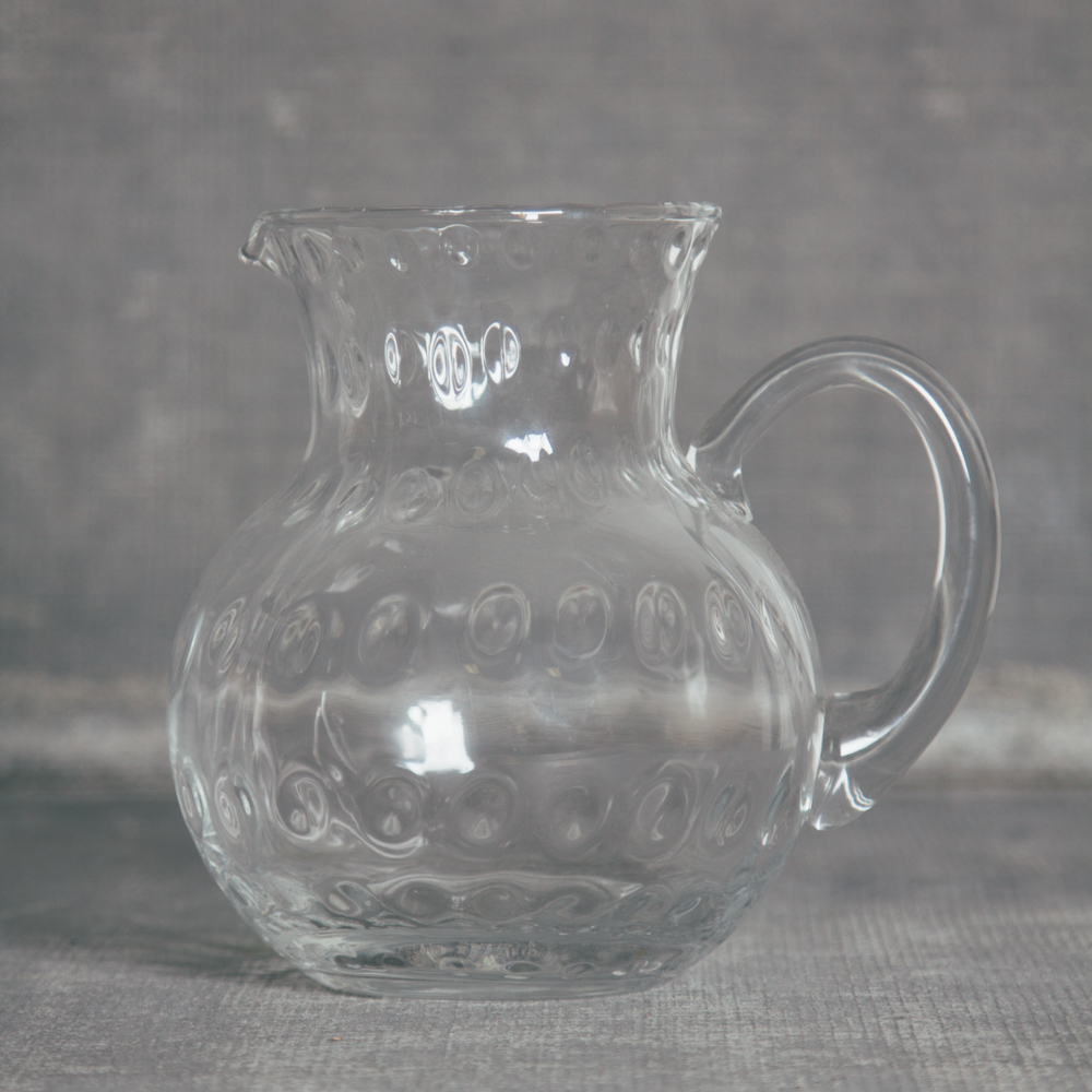 Glass Thumbprint Sangria Pitcher Relish Decor
