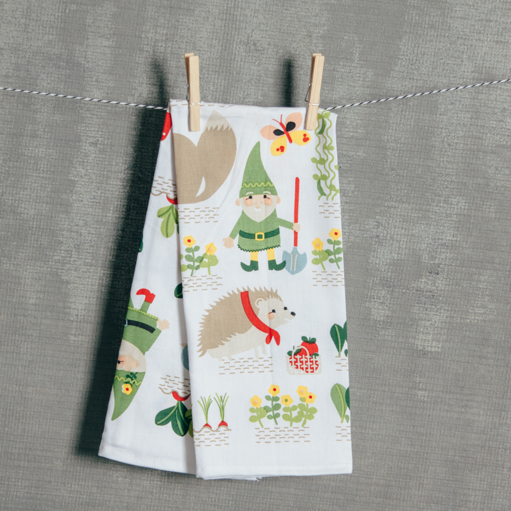 Gnome Sweet Gnome Tea Towel Relish Decor