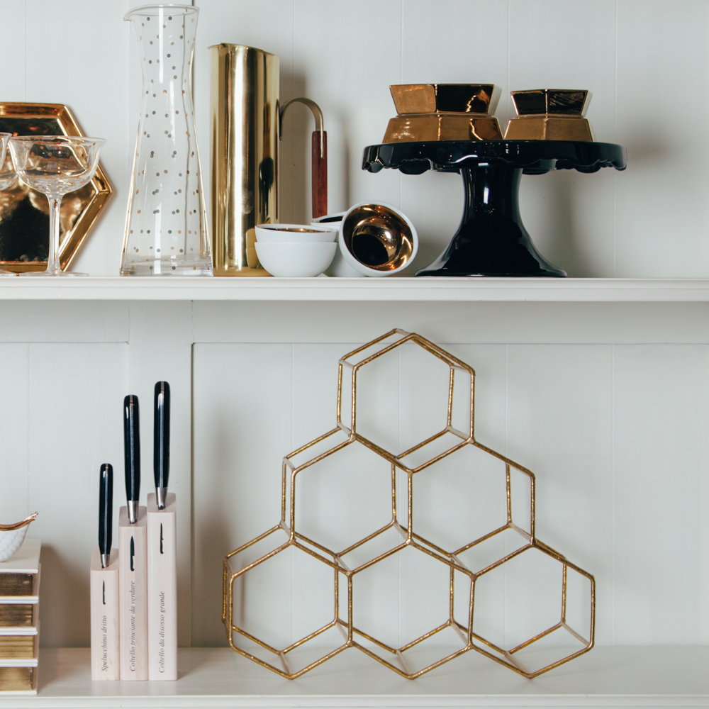 Gold and Black Shelfie Relish Decor