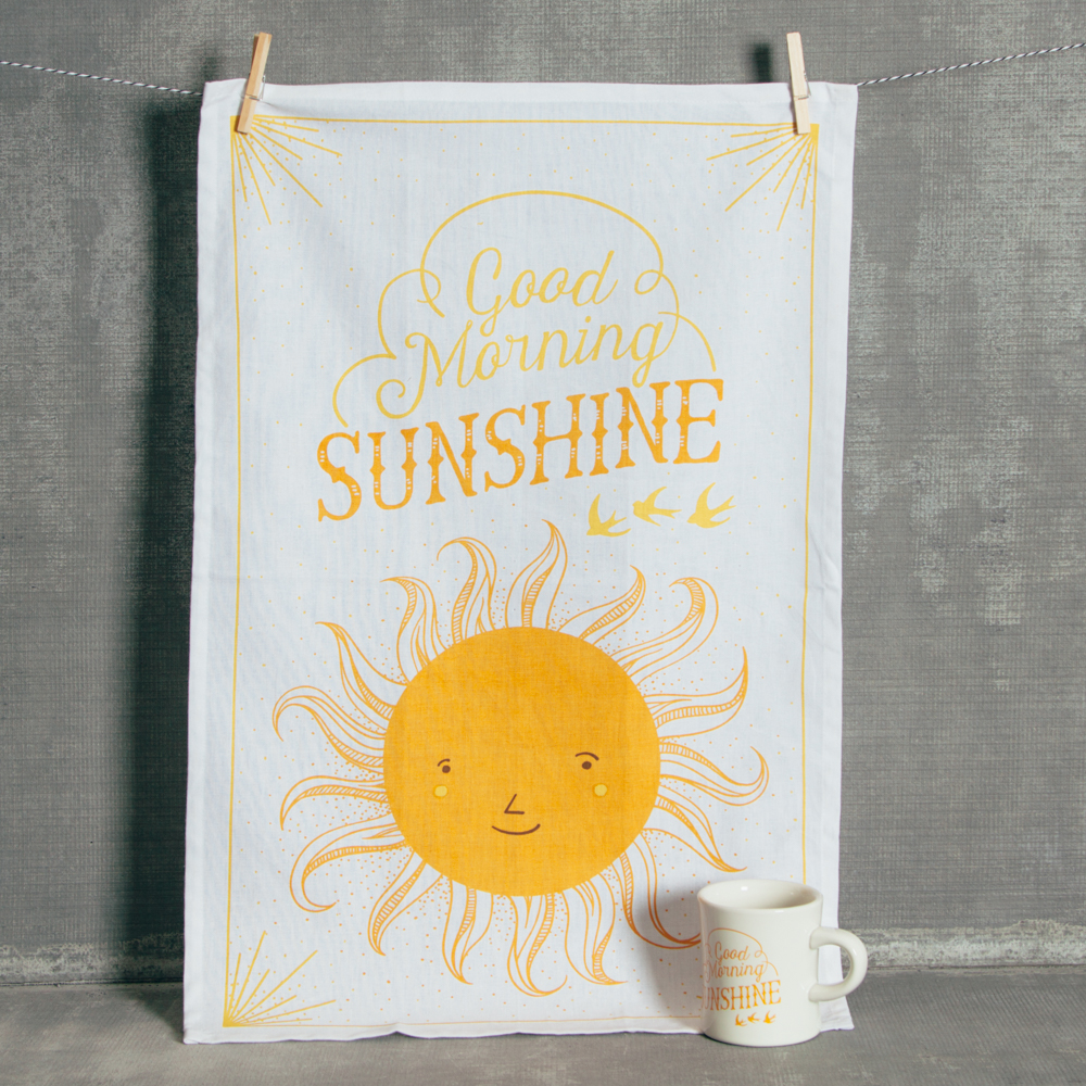 Good Morning Sunny Sunshine Tea Towel Relish Decor
