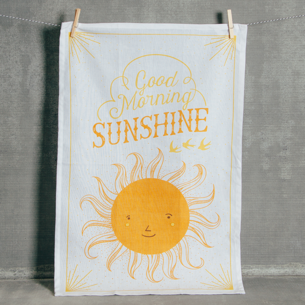 Good Morning Sunshine Tea Towel Relish Decor