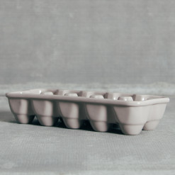 Grey Ceramic Egg Crate Relish Decor