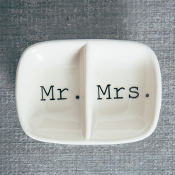 Happy Couple Mr Mrs Ring Dish Relish Decor