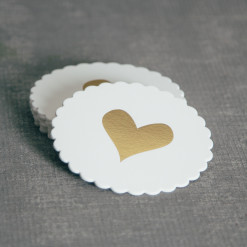 Heart of Gold Letterpress Coaster Box Set Relish Decor