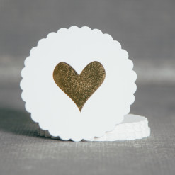 Heart of Gold Letterpress Coaster Set Relish Decor