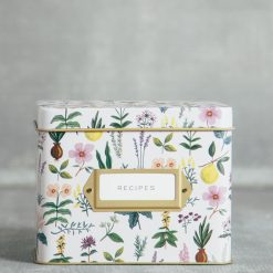rifle paper company herb garden recipe box tin relish decor