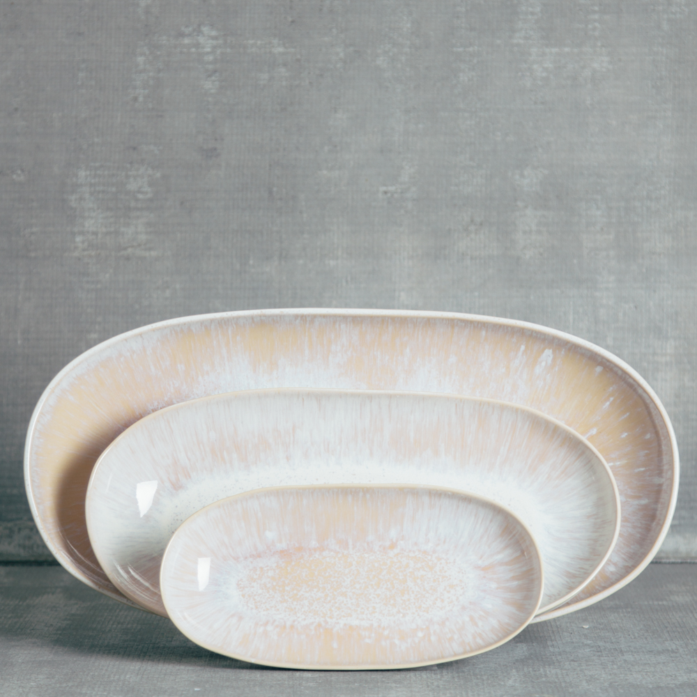 ibiza casafina serving platters oval small medium large relish decor sand beige