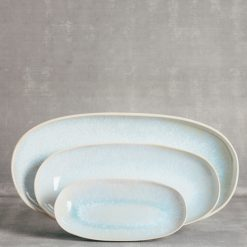 ibiza casafina serving platters small medium large oval relish decor blue sea