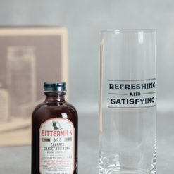 bittermilk cocktail mixer glass gift box set relish decor refreshing and satisfying charred grapefruit tonic detail