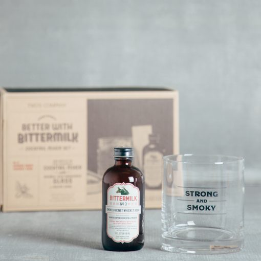 bittermilk cocktail mixer glass gift box set relish decor oaxacan old fashioned strong and smoky