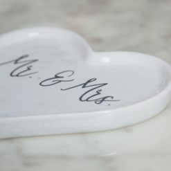 Bliss Ring Dish Mr Mrs Wedding heart relish decor detail