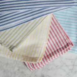 brittany glass tea dish towels strip relish decor detail