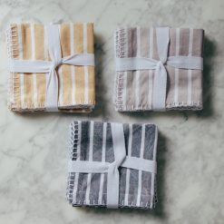 Eva Organic cotton zestt cocktail napkin striped sets