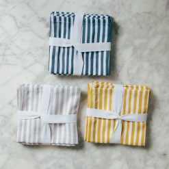 harper Organic cotton zestt cocktail napkin striped sets