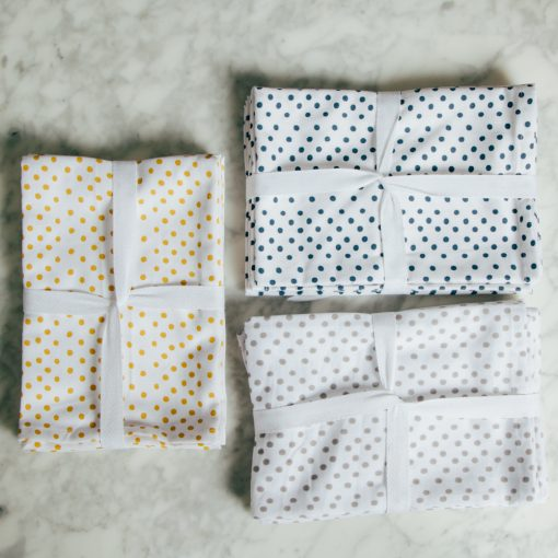 alex Organic cotton zestt dinner napkin polk dot sets