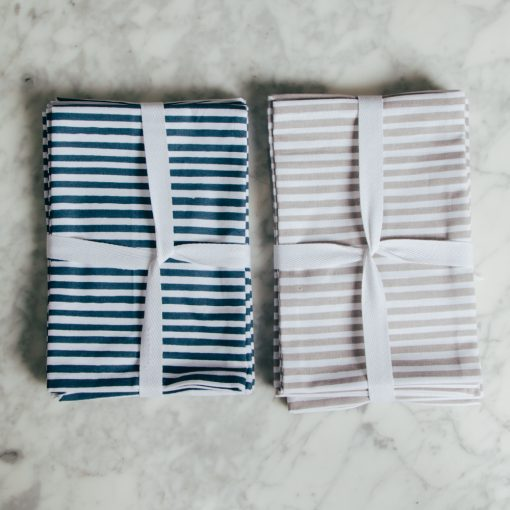 harper Organic cotton zestt dinner napkin striped sets