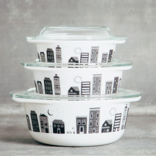 Relish decor retro mod glass bakeware hometown