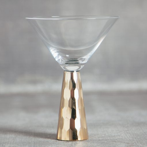 Relish decor gold marquise geometric martini glass