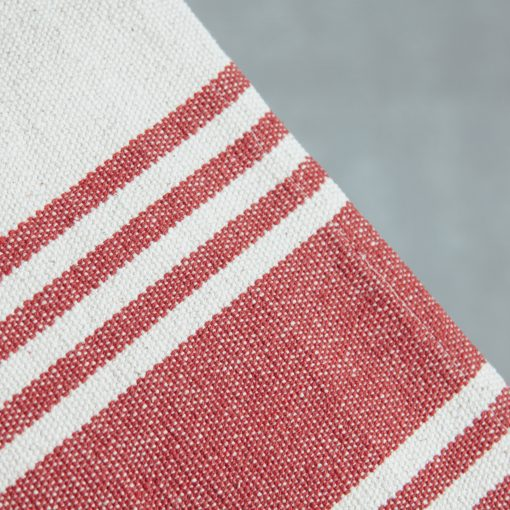 Relish decor provence stripe red table runner