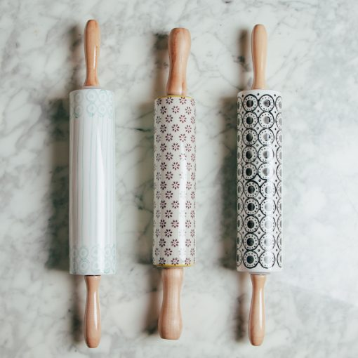 Relish decor susie q deux rolling pins ceramic