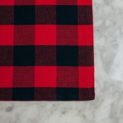 Relish decor buffalo plaid check red placemat