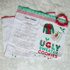 Relish Decor Holiday Christmas Ugly Sweater cake tea towel cookie cutter set