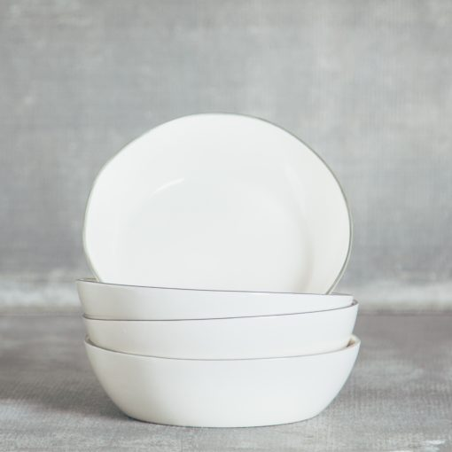 Relish Decor Canvas Home Abbesses Grey Pasta Bowl Set