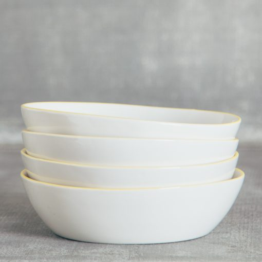Relish Decor Canvas Home Abbesses Yellow Pasta Bowl Set