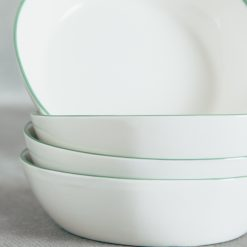 Relish Decor Canvas Home Abbesses Green Pasta Bowl Set