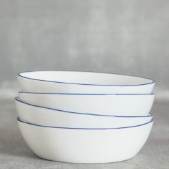 Relish Decor Canvas Home Abbesses Blue Pasta Bowl Set