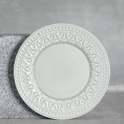 Relish Decor Costa Nova Cristal Grey Salad Plate Set
