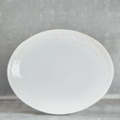 Relish Decor Casafina Taormina White Oval Platter