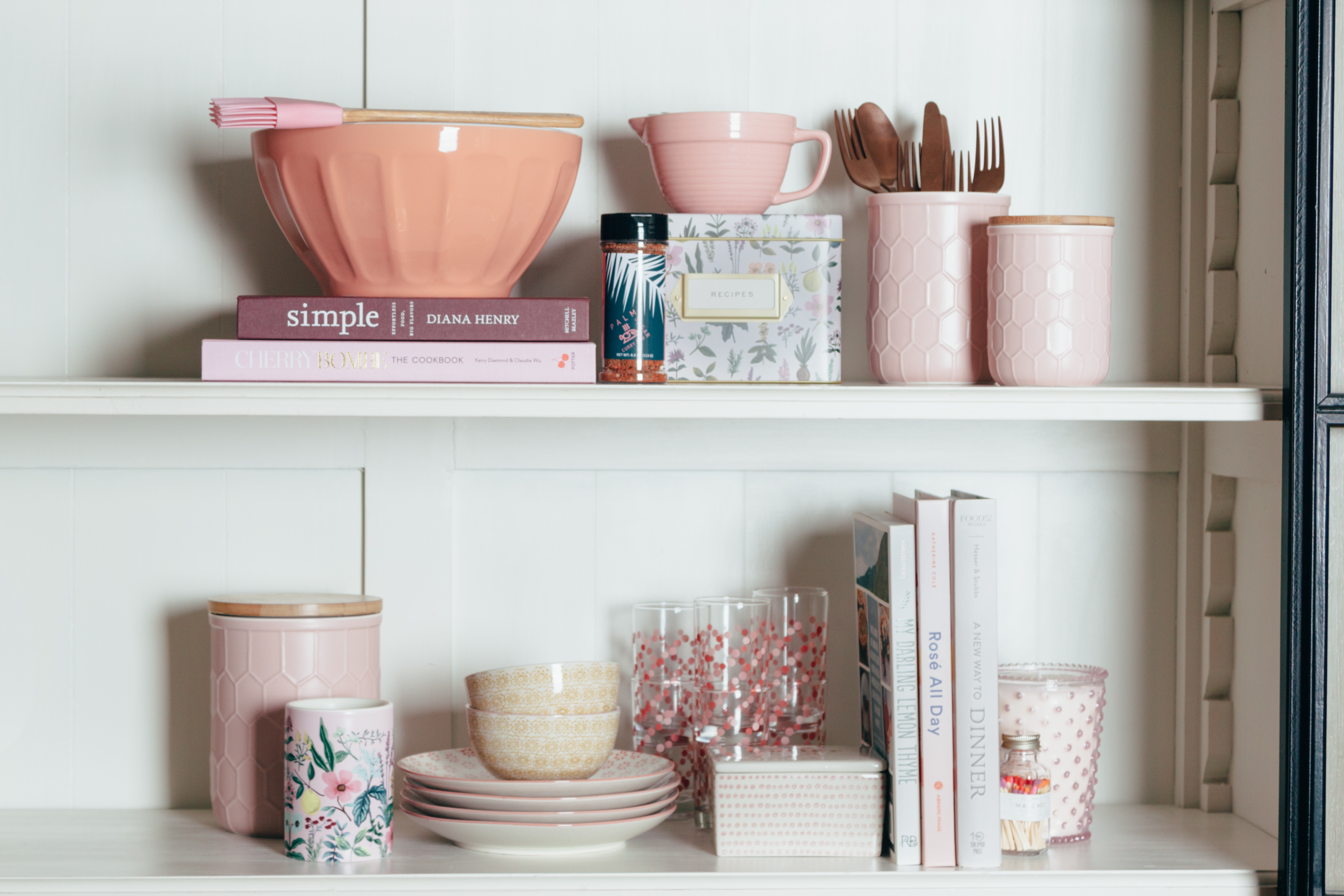Relish Decor Pretty in Pink Kitchen Accessories Decor
