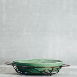 Relish Decor Casafina Forum Chip and Dip with Stand Green