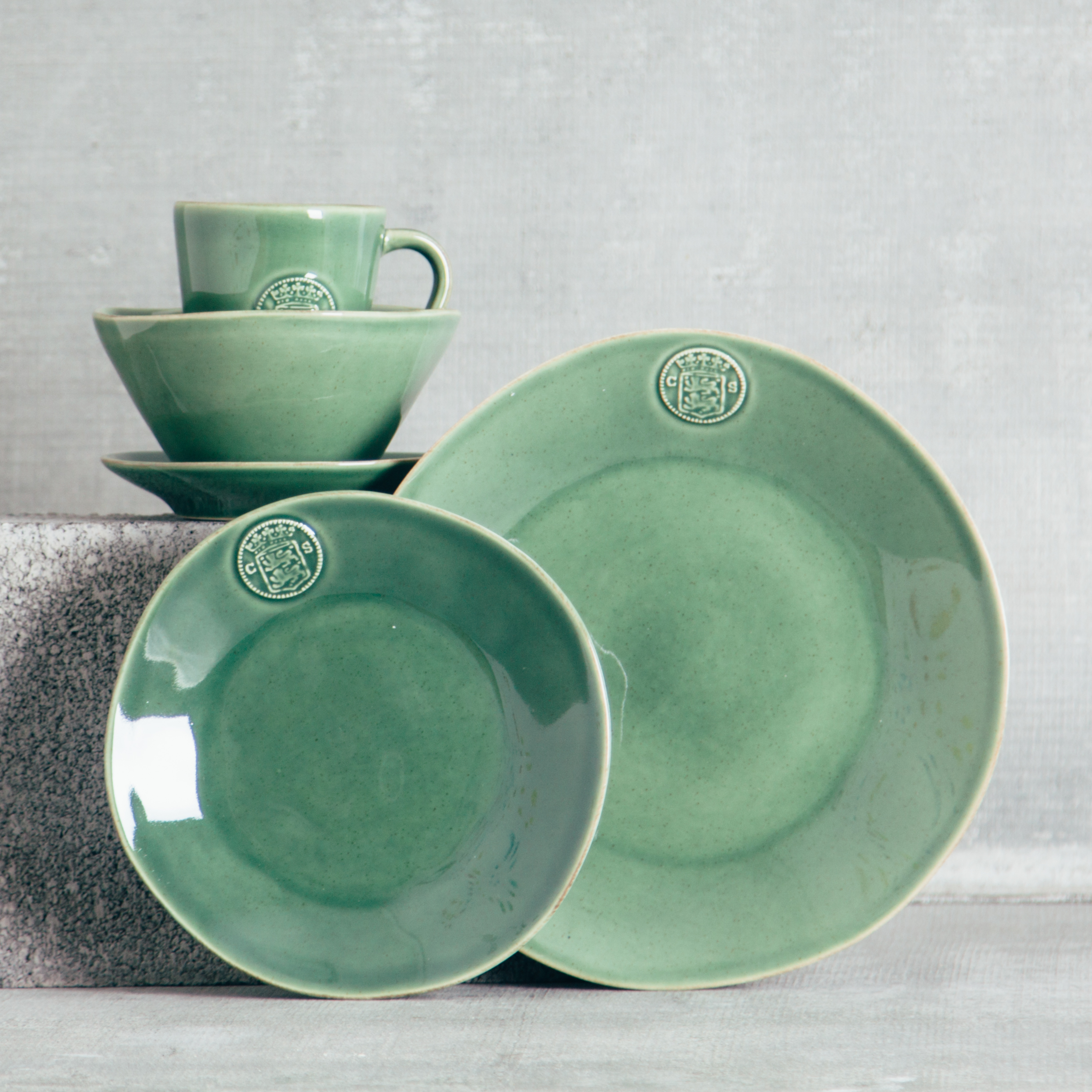 Forum Green Dinnerware Sets- DISCONTINUED LIMITED STOCK
