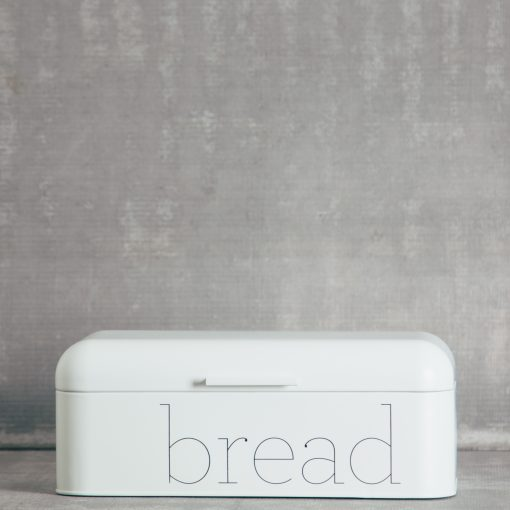 Relish Decor Typeface Bread Bin White