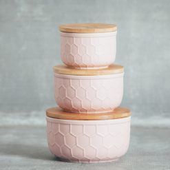 Relish Decor Matte Tupelo Storage Bowl Pink