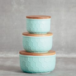 Relish Decor Matte Tupelo Storage Bowl Mint