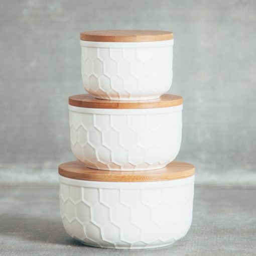 Relish Decor Matte Tupelo Storage Bowl White