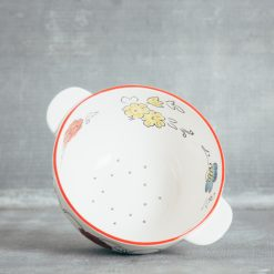 Relish Decor Floral Ceramic Berry Bowl