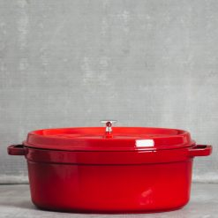 Relish Decor Staub Oval 8.5 qt Cocotte Cherry Red