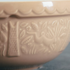 Mason Cash In the Forest relish decor rabbit cane mixing bowl detail