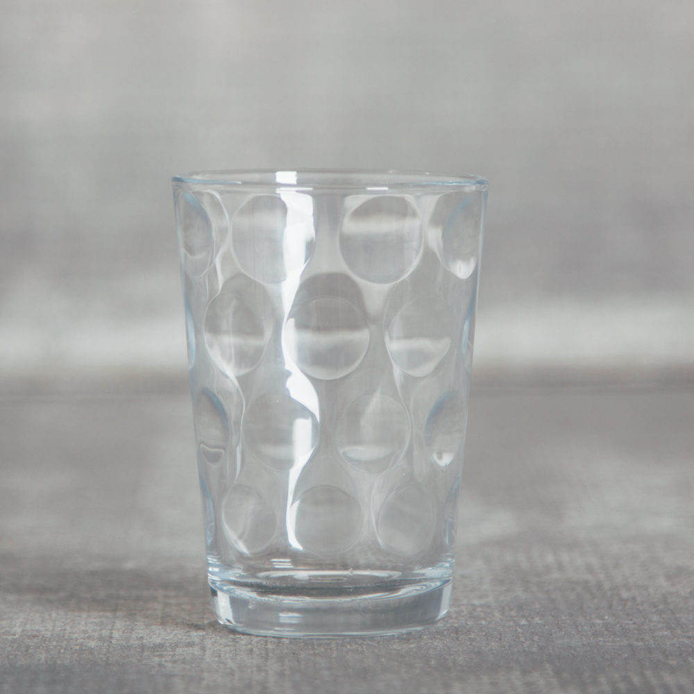 eclipse double old fashioned rocks tumbler glass dots relish decor