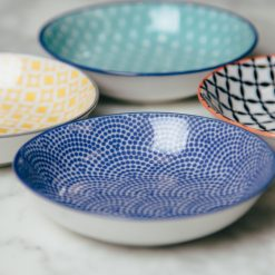 akita stamped dip bowls relish decor detail