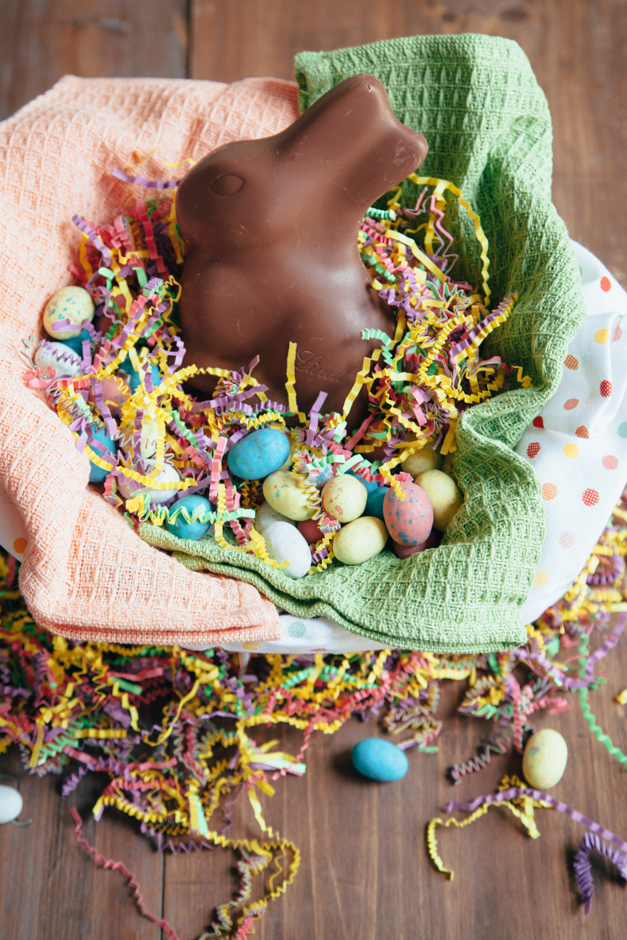 Relish Decor Easter Chocolate Bunny Colander Sustainable Basket