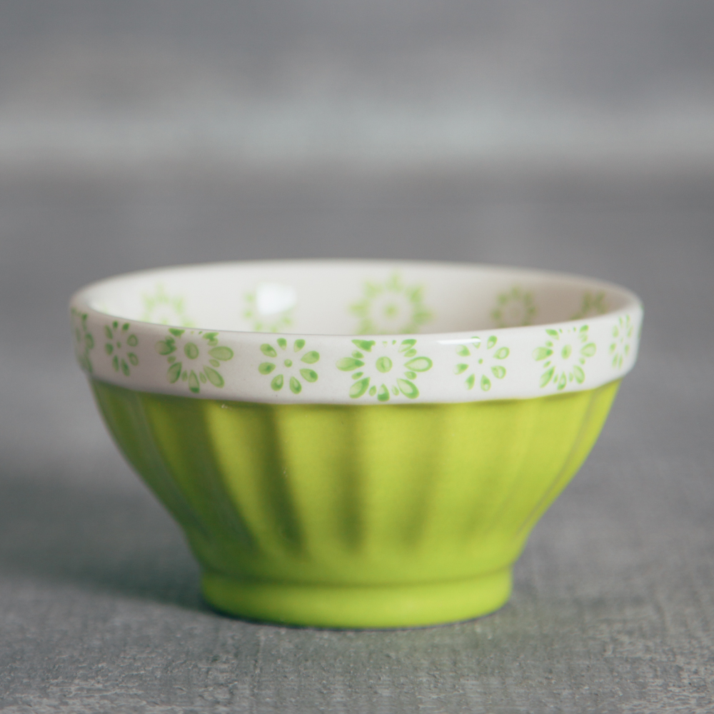 Lillie Painted Nut Bowl Relish Decor green